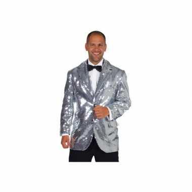 Mooie blazer zilver heren