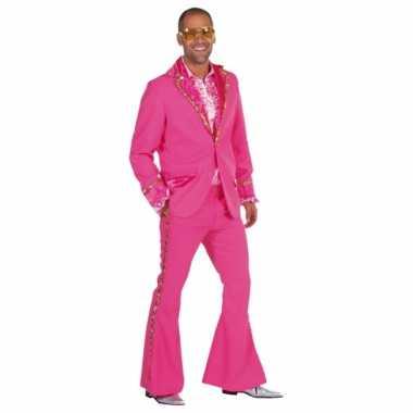 Roze glitter kleding heren