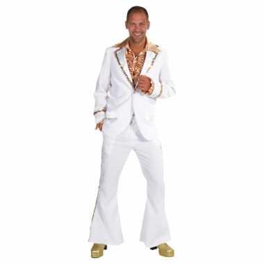 Witte seventies glitter kleding heren