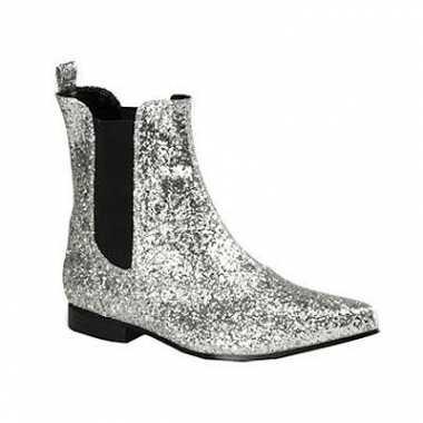 Zilveren heren laarzen enkel model
