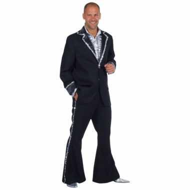 Zwart bling bling glitter kleding heren