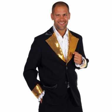 Zwart goud glitter kleding heren